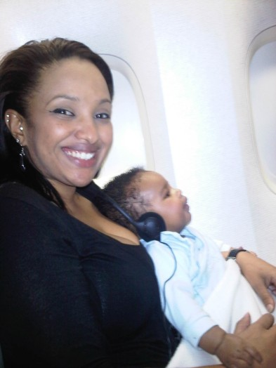 Tega off the the USA (2 months old)