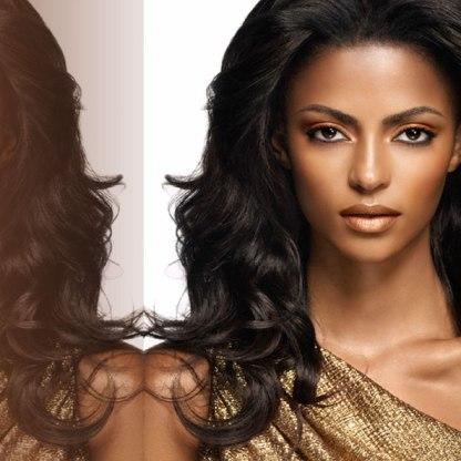 Iman Bronze goddess featured look