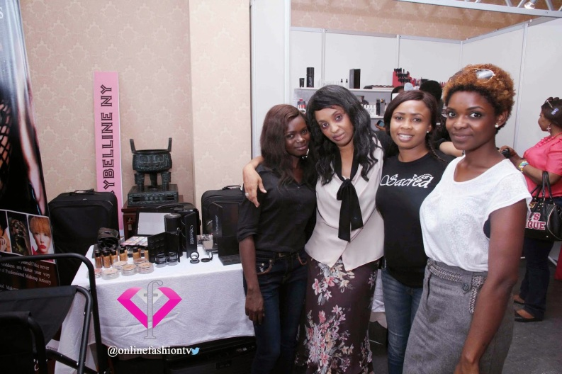 Sacred Beauty Exhibition Stand and Crew~pix credit onlinefashiontv