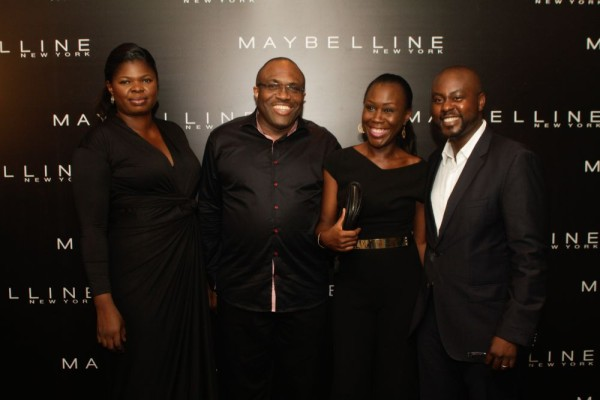 Bimpe Onakoya (Creative Director, Maybelline Central West Africa), Idorenyen Enang (Managing Director, L'Oreal Central West Africa), Tara Fela-Durotoye & Sekou Coulibaly (General Manager, L'Oreal)