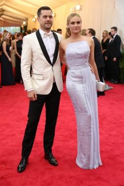 Joshua Jackson and Diane Kruger in Hugo Boss.